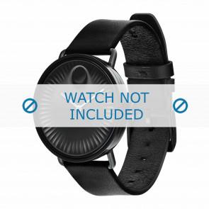 Movado cinturino dell'orologio 3680039 Pelle Nero 20mm