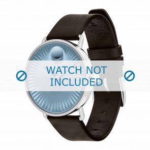 Movado cinturino dell'orologio 3680040 Pelle Marrone scuro 20mm