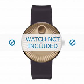 Movado cinturino dell'orologio 3680043 Silicone Marrone scuro 22mm
