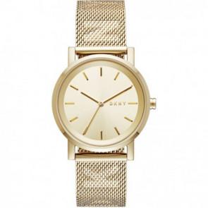 Cinturino per orologio DKNY NY2621 Acciaio Placcato oro 18mm