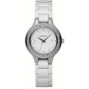 Cinturino per orologio DKNY NY4982 Ceramica Bianco