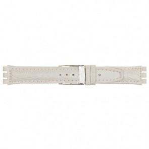 Cinturino orologio per Swatch, bianco, 19mm 20m