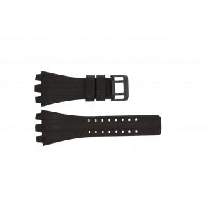Police cinturino dell'orologio 12079BR / 12079JSB/05A / 12079JS-02  Pelle Marrone scuro 36mm