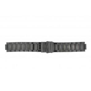 Q&Q cinturino dell'orologio QQ13ST-AC-ST Metallo Grigio antracite 13mm