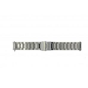 Cinturino dell'orologio QQ22RHSHI Metallo Argento 22mm
