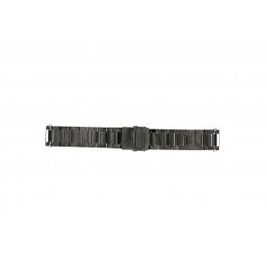 Cinturino dell'orologio QQ22ZWR Metallo Nero 22mm