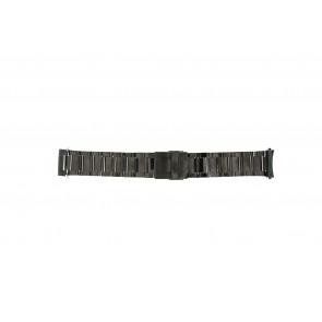 Cinturino dell'orologio QQ24ZWRD Metallo Grigio antracite 24mm