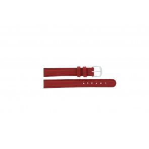 Q&Q cinturino dell'orologio QQ12LDRGS Pelle Rosso 12mm + cuciture rosso