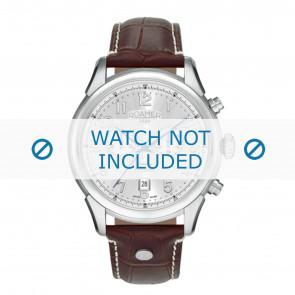 Roamer cinturino dell'orologio 540951-41-16-05 Pelle Marrone 22mm + cuciture bianco