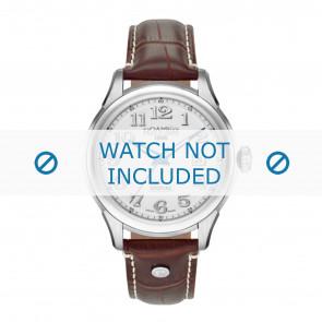 Roamer cinturino dell'orologio 545660-41-16-05 Pelle Marrone 18mm + cuciture bianco