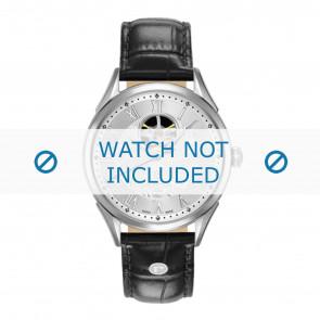 Roamer cinturino dell'orologio 550661-41-22-05 Pelle Nero 18mm + cuciture di default
