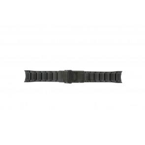 Seiko cinturino dell'orologio V157-0AS0 Metallo Nero 22mm