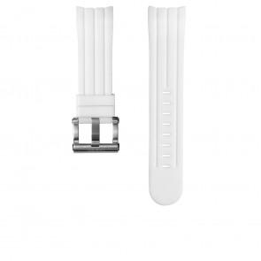TW Steel cinturino orologio TW133 Gomma Bianco 24mm