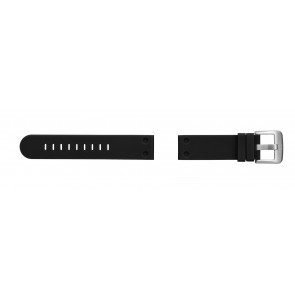 TW Steel cinturino orologio TW581 Gomma Nero 24mm