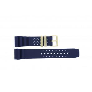 Citizen cinturino dell'orologio TZE-S285.22DBL / Citizen Gomma Blu 22mm