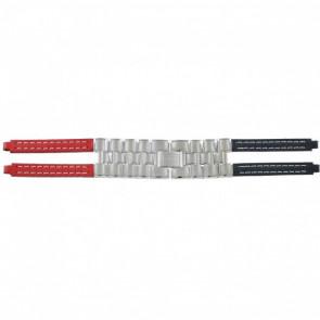 Tommy Hilfiger cinturino orologio F80132 / 1780068 Pelle Rosso / Blu 4mm