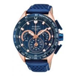 Cinturino per orologio Pulsar VK63-X001-PU2082X1 Pelle Blu
