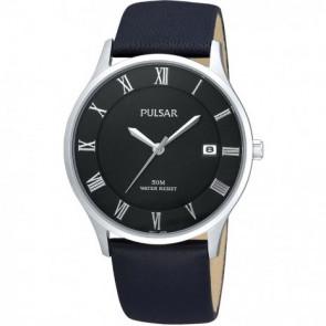 Cinturino per orologio Pulsar VX42-X355 Pelle Nero 20mm