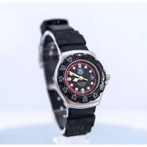 Cinturino per orologio Tag Heuer WA1411 Gomma Nero 15mm