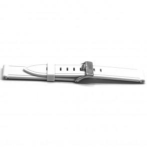 Cinturino orologio Gomma 22mm Bianco EX XH21