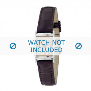 Armani cinturino orologio AR-0205 Pelle di coccodrillo Marrone scuro 14mm