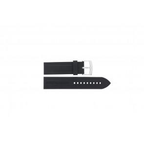 Armani cinturino dell'orologio AR0527 Vanille / AR0532 / AR0559 / AR5826 / AR0559 Silicone Nero 23mm