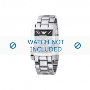 Armani cinturino dell'orologio AR0156 Metallo Argento