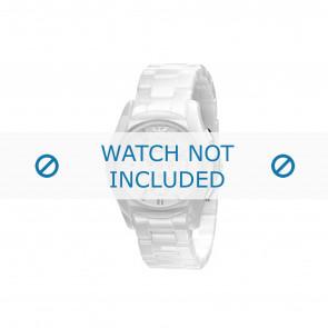 Armani cinturino dell'orologio AR1403 Ceramica Bianco