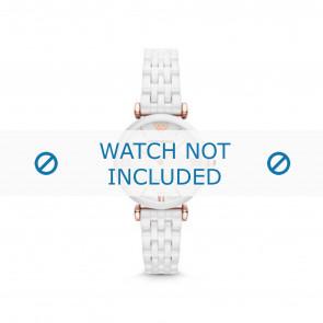 Armani cinturino dell'orologio AR1486 Ceramica Bianco