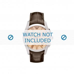 Armani cinturino dell'orologio AR1634 Pelle Marrone + cuciture marrone