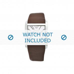 Armani cinturino dell'orologio AR2008 Pelle Marrone scuro