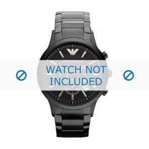 Armani cinturino dell'orologio AR2453 / Renato Large Metallo Nero 22mm