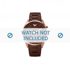 Armani cinturino dell'orologio AR5890 Acciaio/Silicone Marrone 23mm