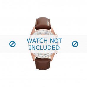 Armani cinturino dell'orologio AR5995 Pelle Marrone 22mm + cuciture marrone