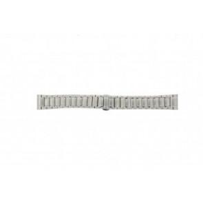 Armani cinturino orologio AR0243 Acciaio Argento 20mm