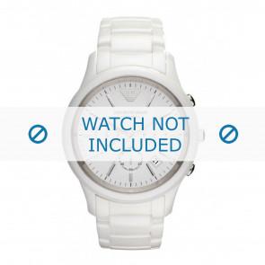 Armani cinturino dell'orologio AR1453 Ceramica Bianco 22mm