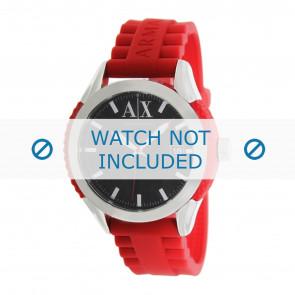 Armani cinturino dell'orologio AX1227 Gomma / plastica Rosso 22mm