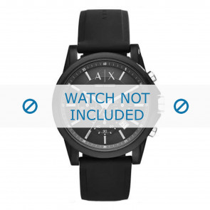Armani cinturino dell'orologio AX1326 Silicone Nero