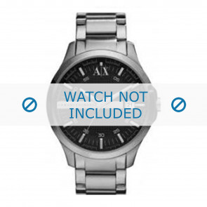 Armani cinturino dell'orologio AX2103 Metallo Grigio antracite
