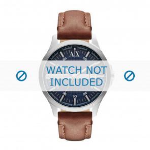 Armani cinturino dell'orologio AX2133 Pelle Marrone + cuciture marrone