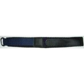 Cinturino orologio in velcro, blu scuro, 20mm