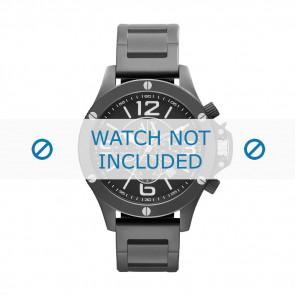 Armani cinturino orologio AX-1503 Acciaio Nero 22mm