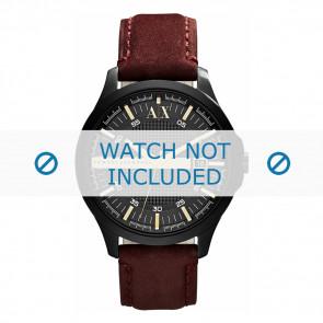 Armani cinturino orologio AX-2130  Pelle Marrone 22mm + cuciture marrone