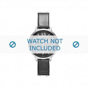 Armani cinturino orologio AX-5303 Pelle Nero 16mm