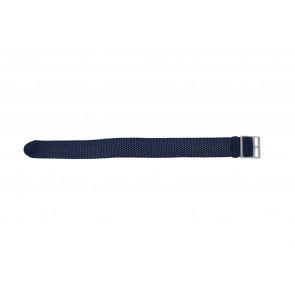 Cinturino orologio perlon, 20mm, azzurro