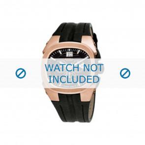 Breil cinturino dell'orologio BW0413 / F26005558 Pelle Nero + cuciture nero