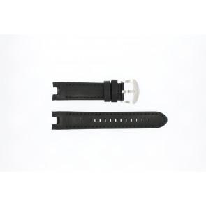 Buddha to Buddha cinturino dell'orologio 46mm / BTB.M.D.3H.02 Pelle Nero 21mm + cuciture nero