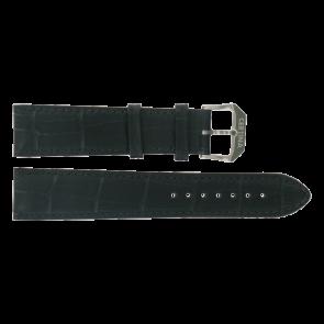 Certina cinturino dell'orologio C600015907 21/18MM Pelle Nero 21mm + cuciture nero