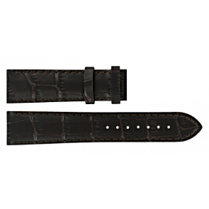Certina cinturino dell'orologio C610016931 Pelle Marrone scuro 20mm + cuciture marrone