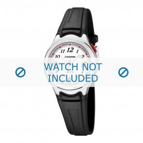 Calypso cinturino dell'orologio K6067-4 Gomma Nero 7mm